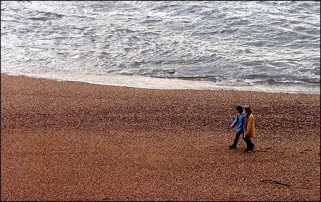 """фото """"Walking on the beach"""" метки: пейзаж, зима"""