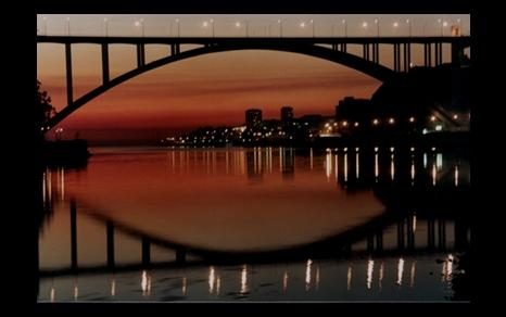 """фото """"Oporto by night"""" метки: пейзаж, ночь"""