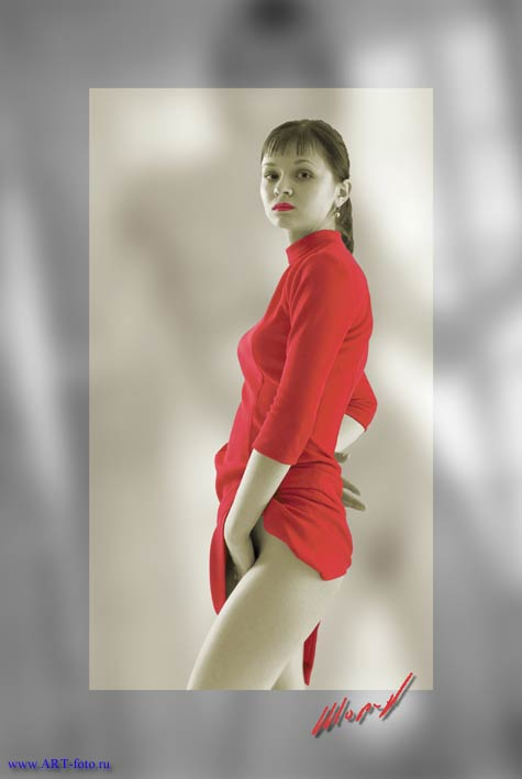 "photo ""Red dress"" tags: nude,"