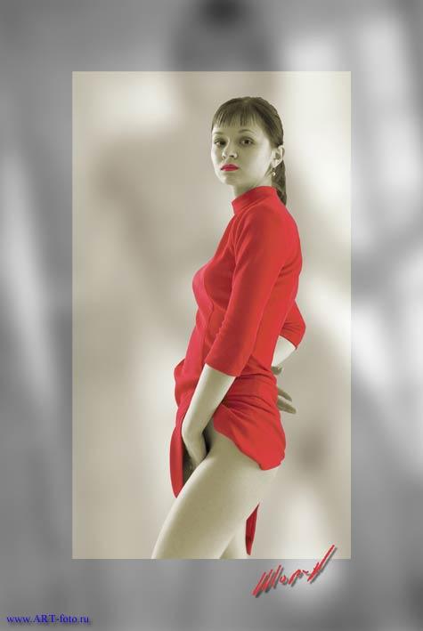 """фото """"Красное платье"""" метки: ню,"""