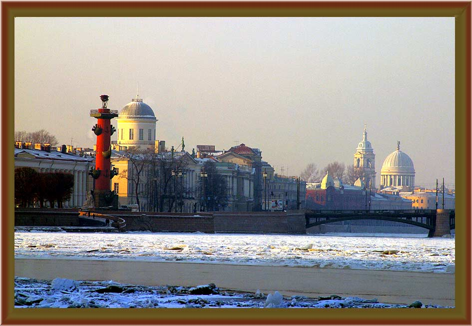 "photo ""Frost in St. Petersburg"" tags: architecture, landscape,"