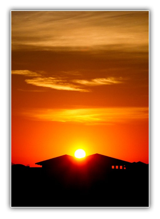 """photo """"""""The house of a rising sun"""""""" tags: landscape, sunset"""
