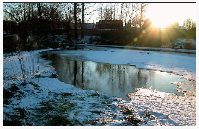 "photo ""The shy winter sun"" tags: landscape, nature, winter"