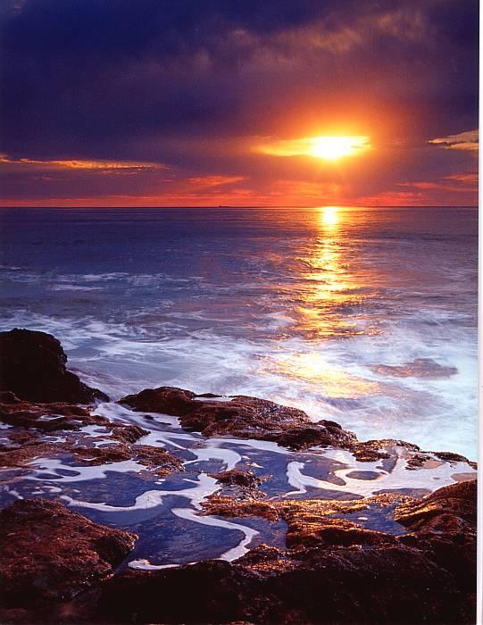 "фото ""California Coast Sunset"" метки: пейзаж, вода, закат"