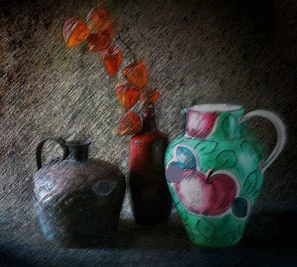 "photo ""Still Life with Pitcher"" tags: still life, montage,"