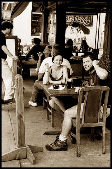 "photo ""SIDEWALK CAFE: Athens, Ga. 04 2000"" tags: PF life, reporting,"