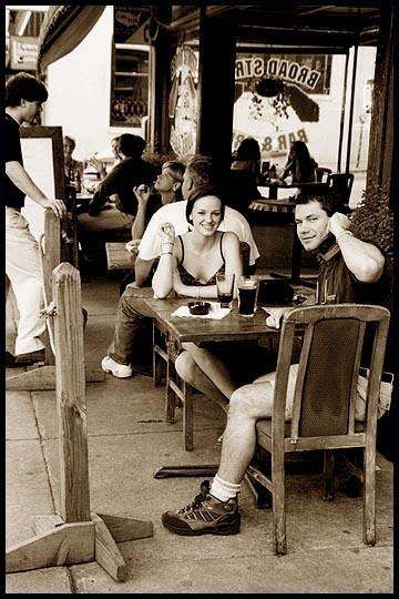 "photo ""SIDEWALK CAFE: Athens, Ga. 04 2000"" tags: PF life, reporting,"