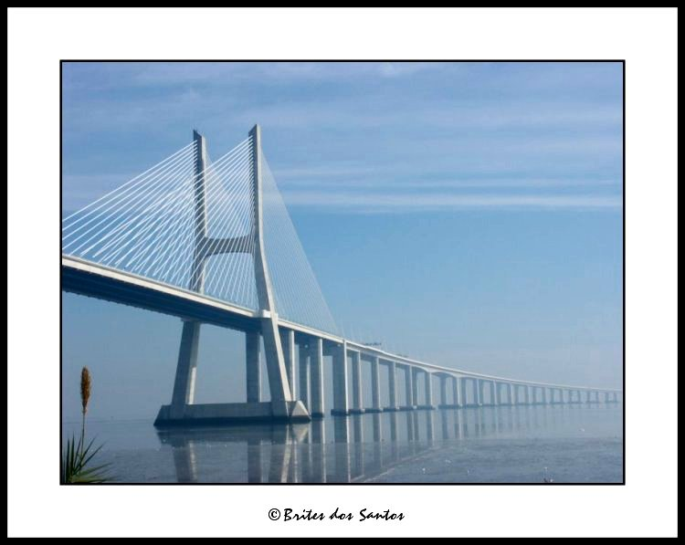 "photo ""Vasco da Gama bridge I"" tags: architecture, landscape,"
