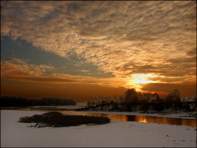 "фото ""Закат-10"" метки: пейзаж, закат, зима"