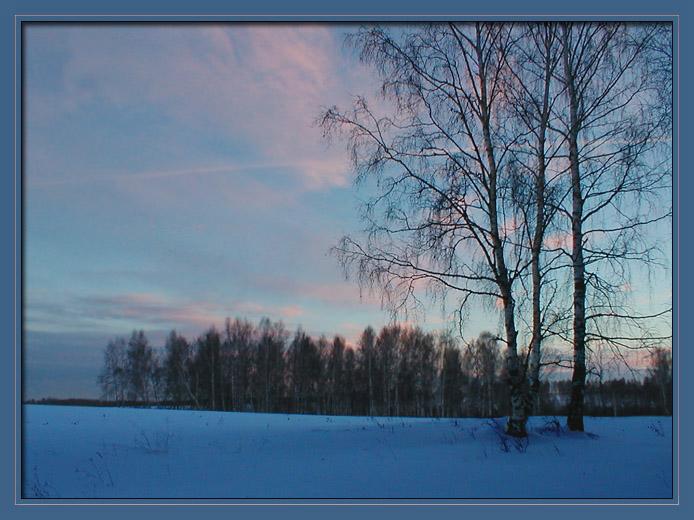 """фото """"Зимний вечер"""" метки: природа,"""