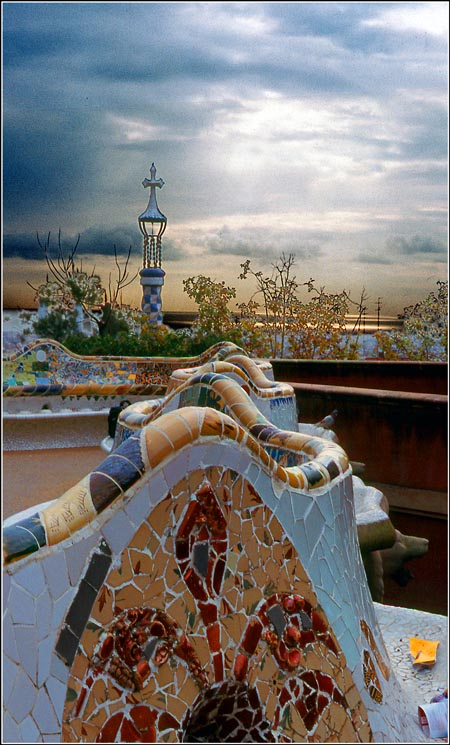 "photo ""gaudi parque guell"" tags: travel, Europe"