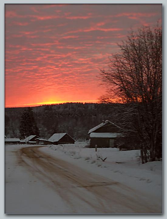 "фото ""Много обещающий восход…"" метки: пейзаж, закат, зима"