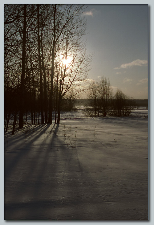 "photo ""The winter sun"" tags: landscape, sunset, winter"
