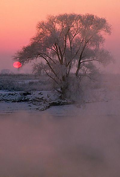 """photo """"Winter River Breath"""" tags: landscape, winter"""