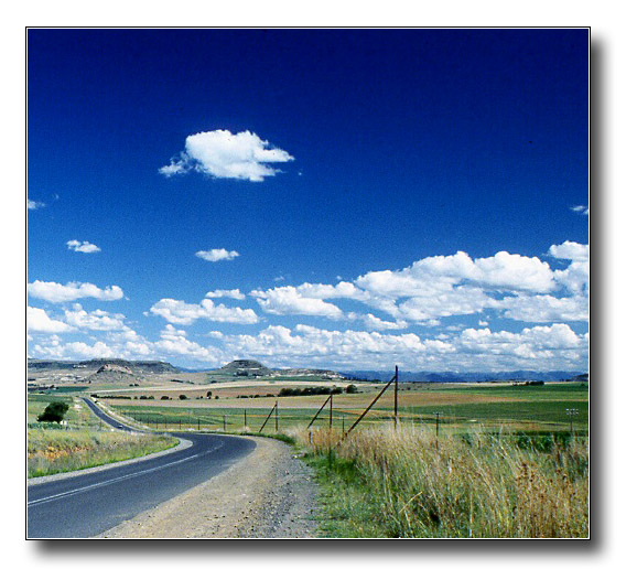 "photo ""Countryside in South Africa"" tags: landscape, clouds"