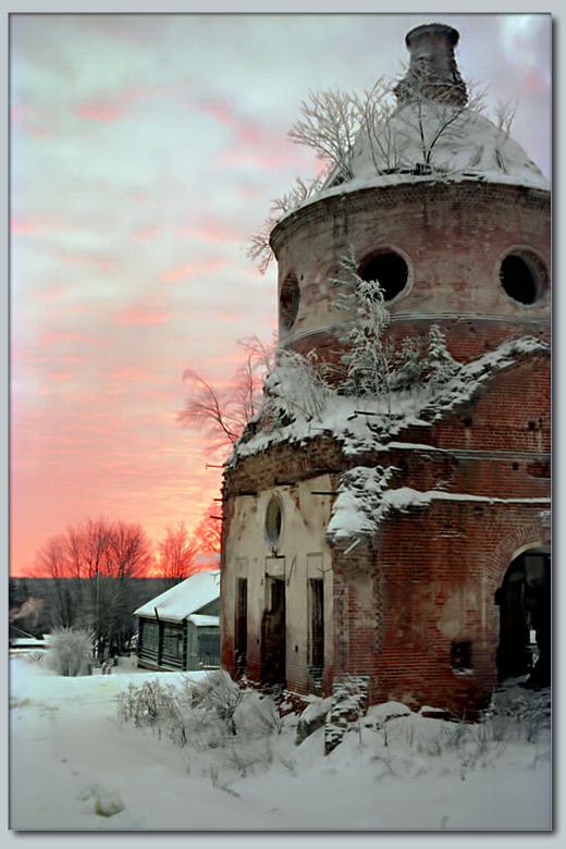 "фото ""Костромские пейзажи - 2"" метки: пейзаж, закат, зима"
