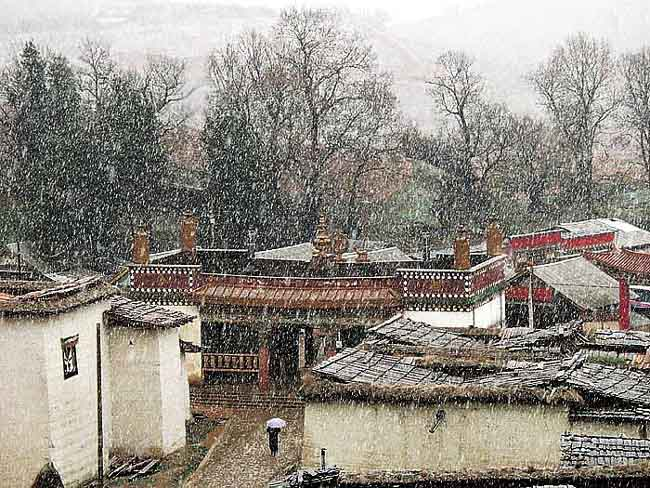 """photo """"Land of Snows"""" tags: travel, landscape, Asia, winter"""