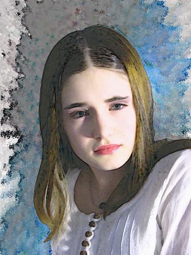 "фото ""Painterly portrait"" метки: фотомонтаж, портрет, женщина"