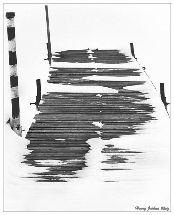 """фото """"Snowy dock"""" метки: пейзаж, зима"""