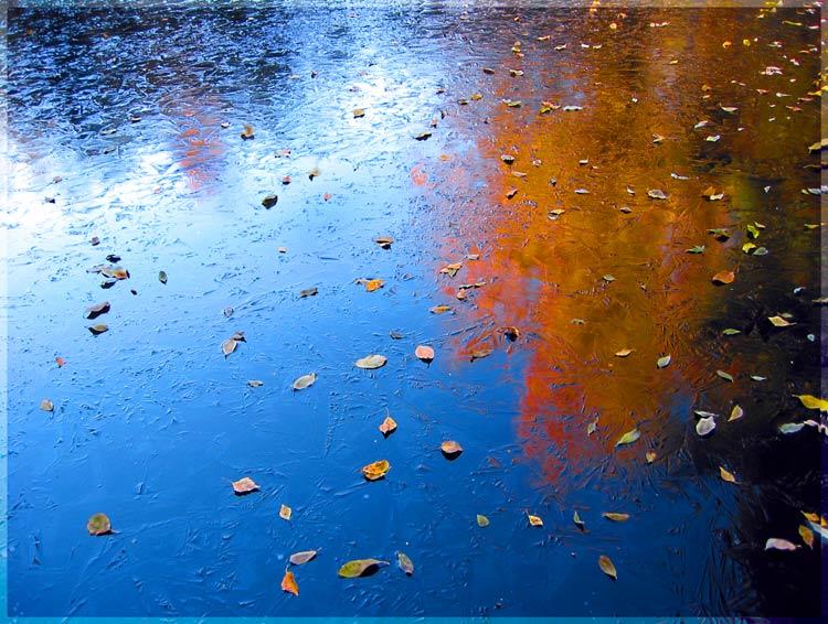 """фото """"Хрустальное зеркало поздней осени. Огненная палитр"""" метки: пейзаж, вода, осень"""