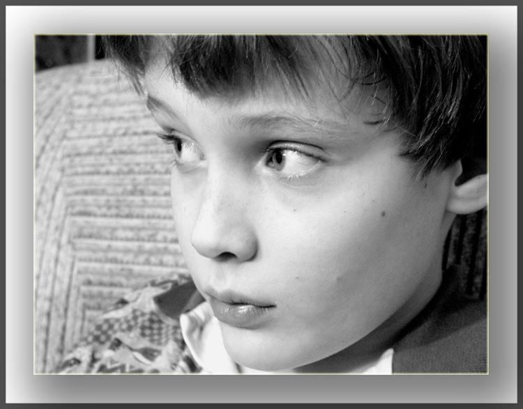 "фото ""Взгляд"" метки: портрет, черно-белые, дети"