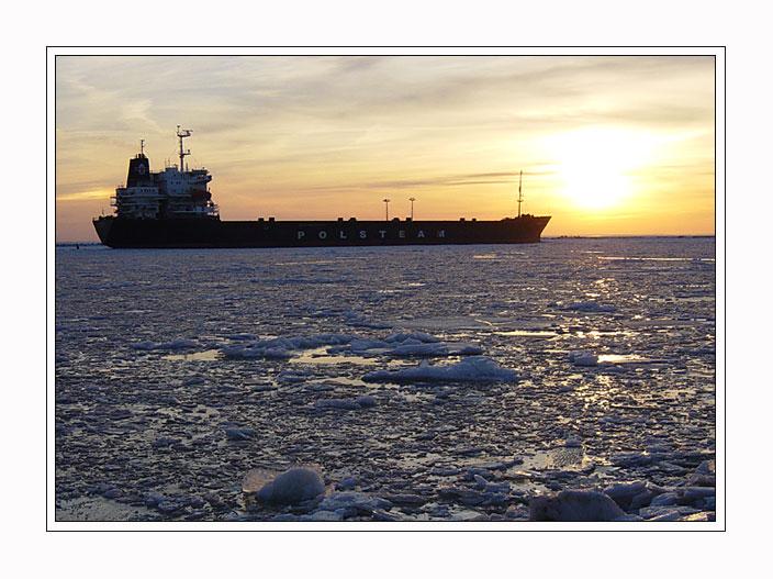 """фото """"Сквозь льды - 2"""" метки: пейзаж, вода, закат"""