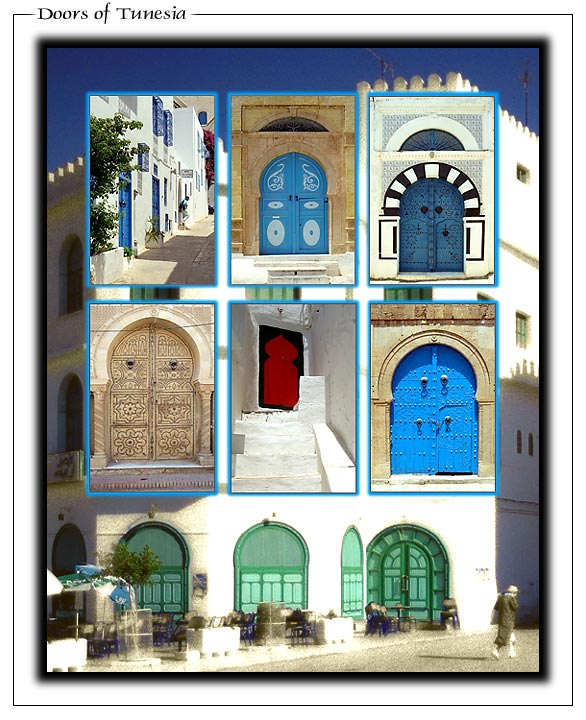 "фото ""Doors of Tunesia"" метки: архитектура, фотомонтаж, пейзаж,"