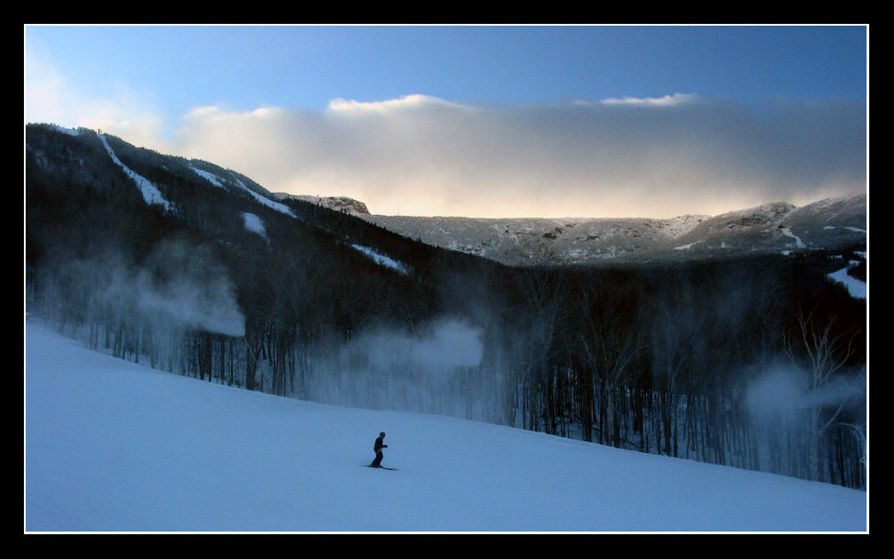"фото ""The Last Run"" метки: пейзаж, горы, зима"