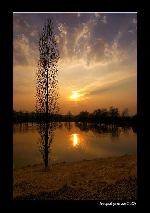 """фото """"Bohemian Landscape 96"""" метки: пейзаж, весна, закат"""
