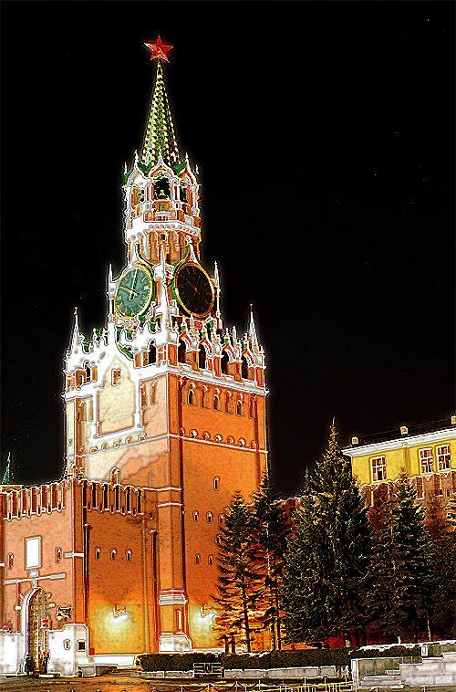 "фото ""Night Kremlin"" метки: архитектура, пейзаж,"