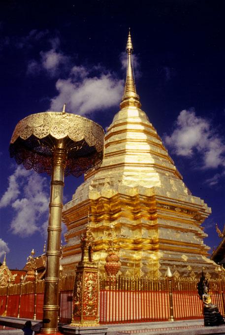 "фото ""Golden Pagoda, Chiang Mai, Thailand"" метки: путешествия, Азия"