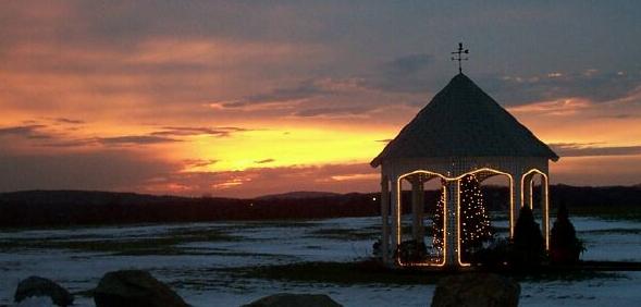 "фото ""Christmas Lights"" метки: пейзаж, закат, зима"