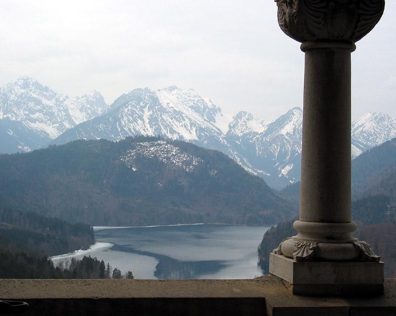 "фото ""Так видел Альпы Людвиг II (Бавария)"" метки: фотомонтаж, пейзаж, горы"