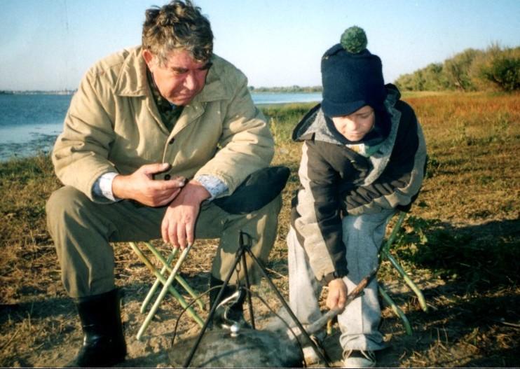 стихи дед с внуком на рыбалке