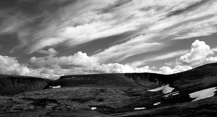 """фото """"Переменная облачность"""" метки: пейзаж, черно-белые, облака"""