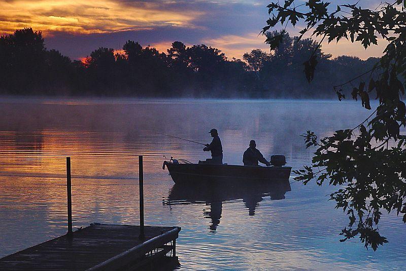 пейзаж с рыбаками фото