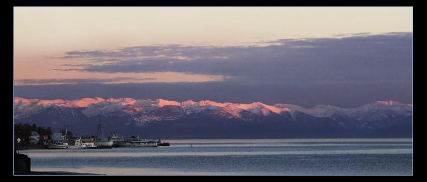 "фото ""Под розовыми горами"" метки: пейзаж, закат"