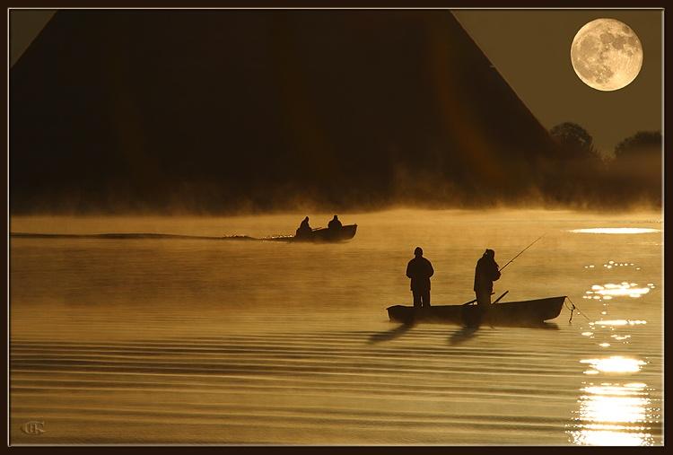 """фото """"Рыбаки"""" метки: пейзаж, закат"""