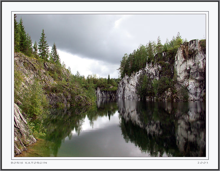 """фото """"Заброшенный карьер"""" метки: пейзаж, вода, осень"""