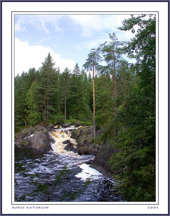 """фото """"Пороги Тохмайоки"""" метки: пейзаж, вода, лес"""