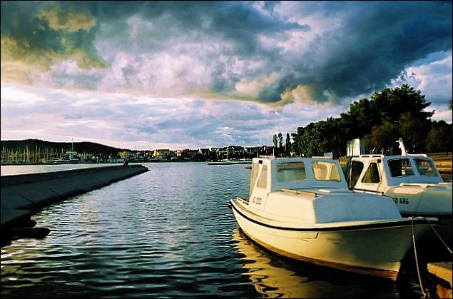 """фото """"Boats"""" метки: пейзаж, облака"""