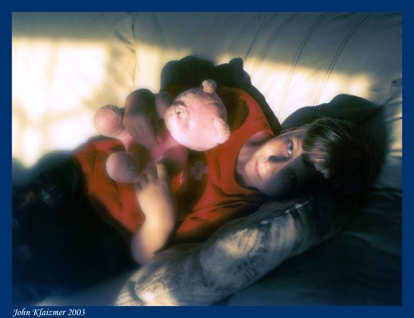 "фото ""With bear"" метки: портрет, дети"