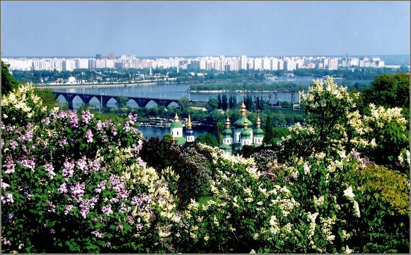 """фото """"Spring, Kiev, Vydubichi"""" метки: архитектура, пейзаж, весна"""