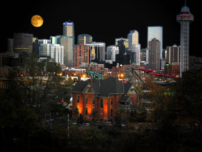 "фото ""Denver Cityscape"" метки: архитектура, пейзаж, ночь"