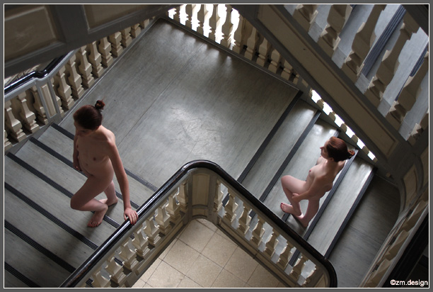 "photo ""In Memory of Escher"" tags: nude, montage,"