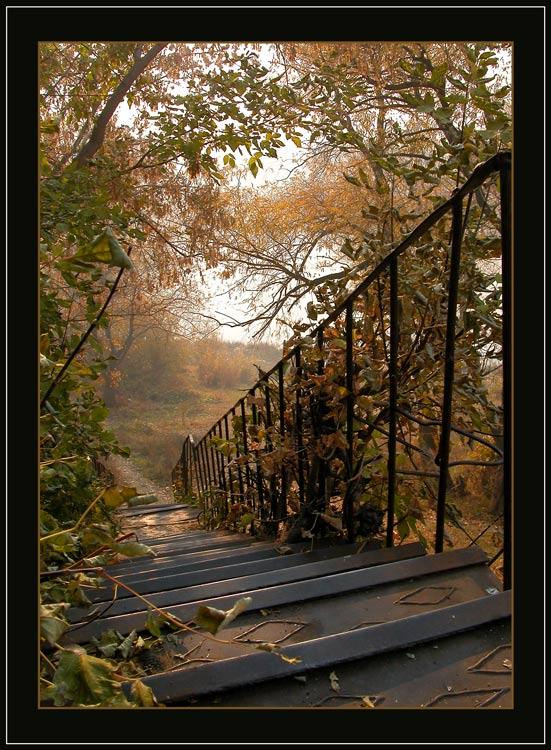 "фото ""old iron stairway"" метки: разное, пейзаж, осень"