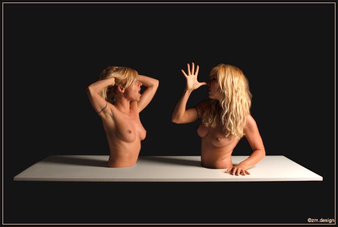 "фото ""Quarreling Sisters"" метки: ню, фотомонтаж,"