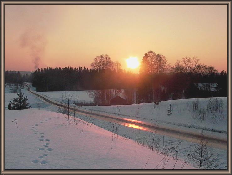"фото ""Lovely finnish countryside"" метки: пейзаж, зима"