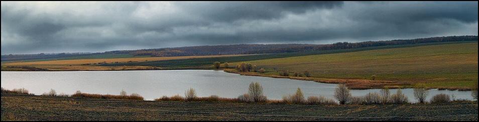 "фото ""Вечер перед первоснежьем."" метки: пейзаж, облака, осень"