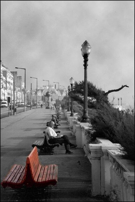 "фото ""The red bench"" метки: пейзаж, фотомонтаж,"